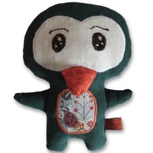 doudou pingouin vert